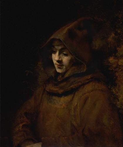 rembrandt-portrait-de-son-fils-titus-en-tenue-de-moine-1660