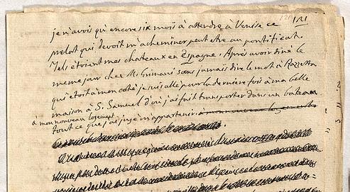 feuille-du-manuscrit-de-casanova