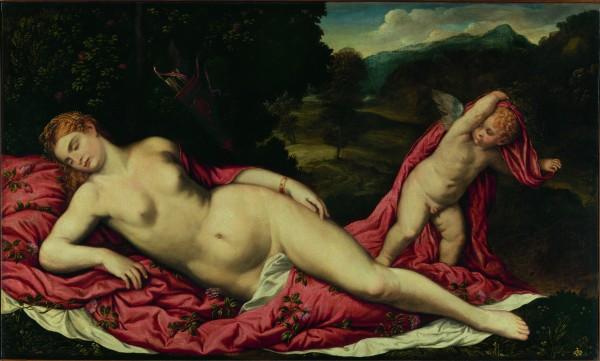 bordone-venus-endormie-et-cupidon