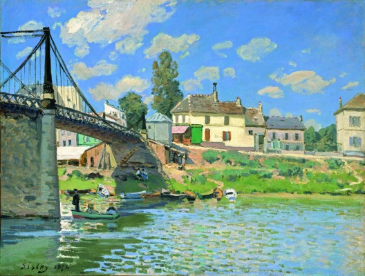 Sisley, Le pont à Villeneuve-la-Garenne
