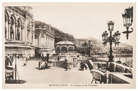 26217474-monte-carlo-monaco--circa-1920-vintage-postcard-with-view-of-famous-grand-casino-building-in-monte-c