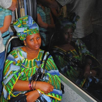 В парижском метро. Photo Ogoulbibi Marias