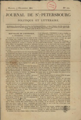 JOURNAL DE PETERSBOURG