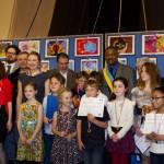 """Конкурс детских рисунков """"Нарисуй мне Мир"""" во французском Сенате  Concours de dessins d'enfants «Dessine-moi la Paix» au Sénat français"""