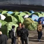 Новый лагерь для беженцев в Париже
