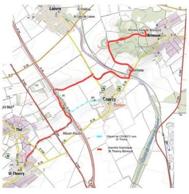 Itinéraire de la marche historique COURCY
